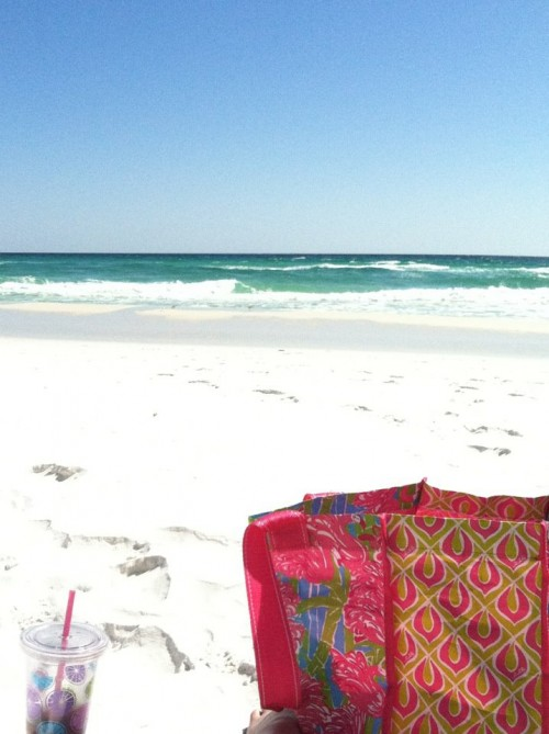 Repping Lilly, even on the beach. TSM.