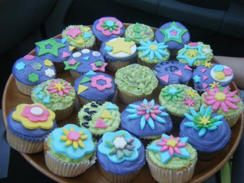 Homemade cupcakes for Greek Week Carnival. TSM.