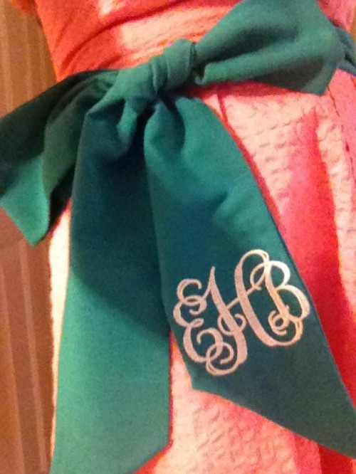 Oh you know, just a monogrammed bow. TSM.
