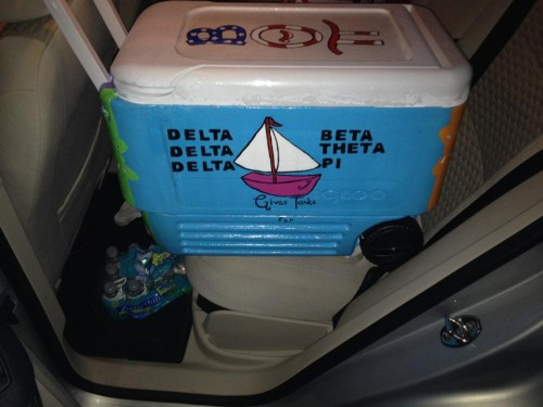 Supporting Beta Blast and the Eta Beta chapter's own philanthropy all on one cooler. TSM.