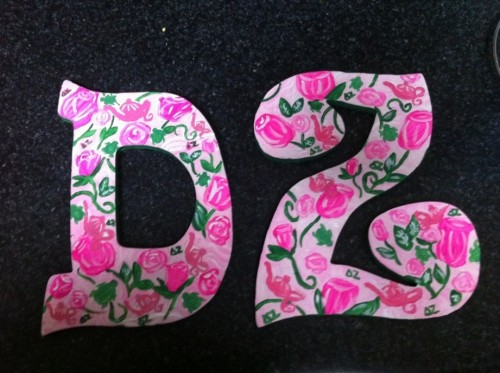 Handpainted DZ Lilly print letters for my perfect Little! TSM.