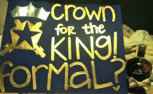 A crown for the king for ZTA formal. TSM.