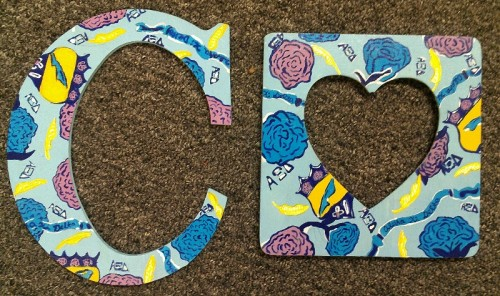 Crafting for big appreciation week instead of studying for finals. TSM.