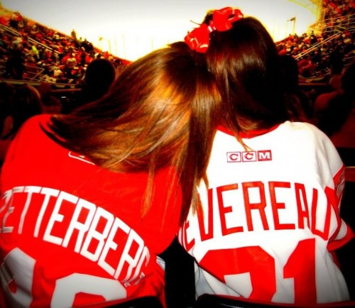 Red Wings Jersey: $98. Playoff Tickets: $74. Big + Little Love: PRICELESS
