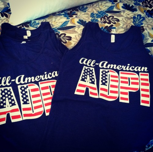 The two things I love the most: America and ADPi. TSM.