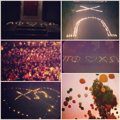 The entire Greek community came together to show their love and support after one of our sisters passed away. TSM.