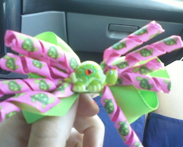 Matching turtle bows for me and my little. TSM.
