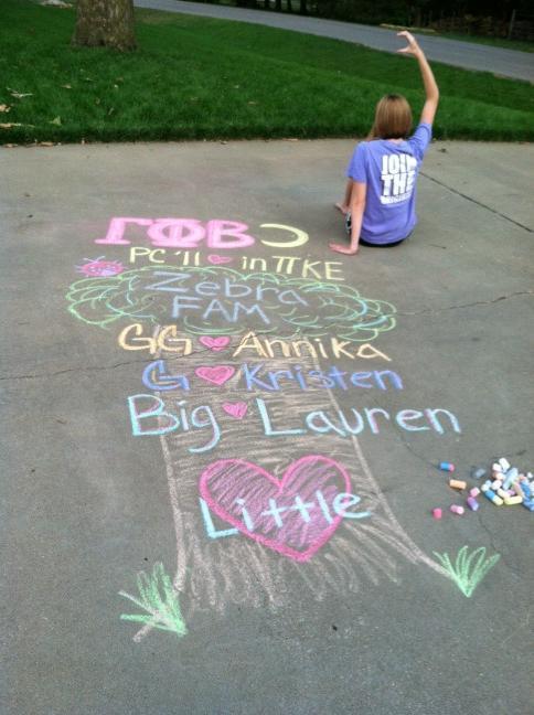 What happens when you give a sorority girl sidewalk chalk. TSM.