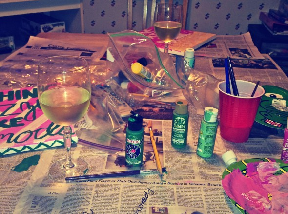 Wining and crafting for our lucky future littles. TSM.