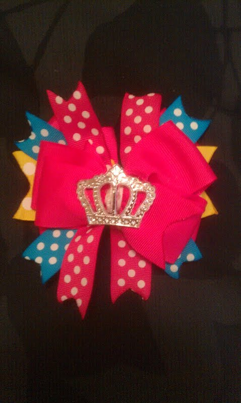The birthday bow my perfect Little crafted for me. TSM.