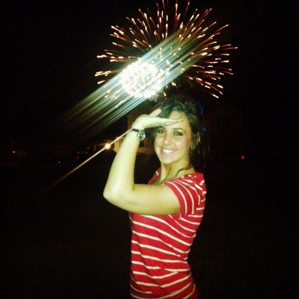 Throwing it up during fireworks! God Bless America! TSM.