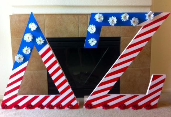 Delta Zeta fireworks fundraiser letters <3 USA