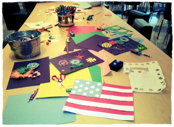 Crafting for America with the kids at St. Jude. TSM.
