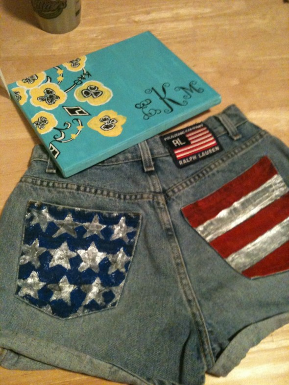 These are a few of my favorite things: America, monograms, and Lilly. TSM.