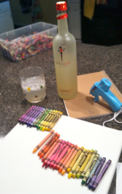 Crafting for my room with a Skinny Girl in hand. TSM.