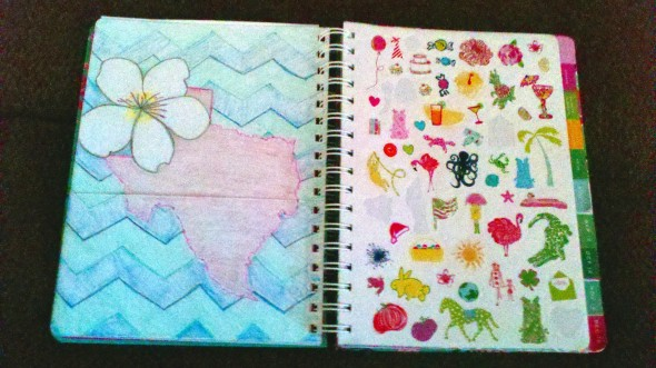 White Violet and Texas! Making your Lilly planner your own. TSM.