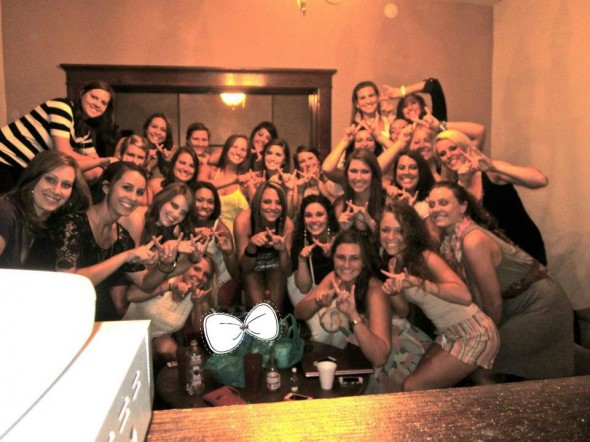Never going anywhere without 20 of your sisters. TSM.