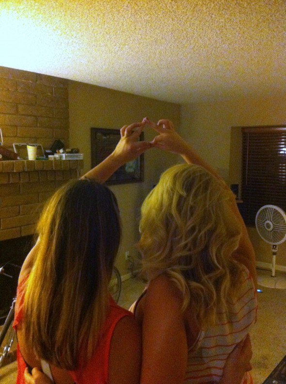 A Brunette and a Blonde with an inseparable bond. TSM.