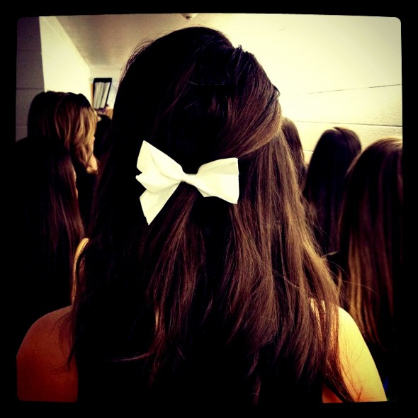 Wearing bows to give bids. TSM.