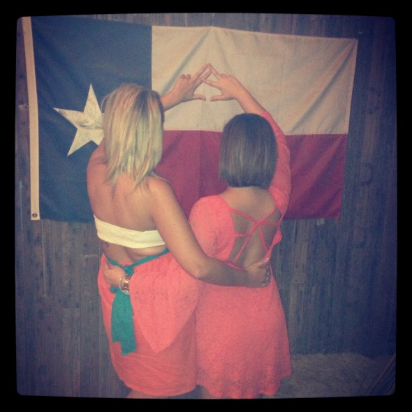My two favorite things: Alpha Chi Omega and Texas. TSM.