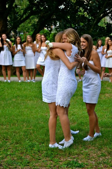 That first official hug as big and little. TSM.