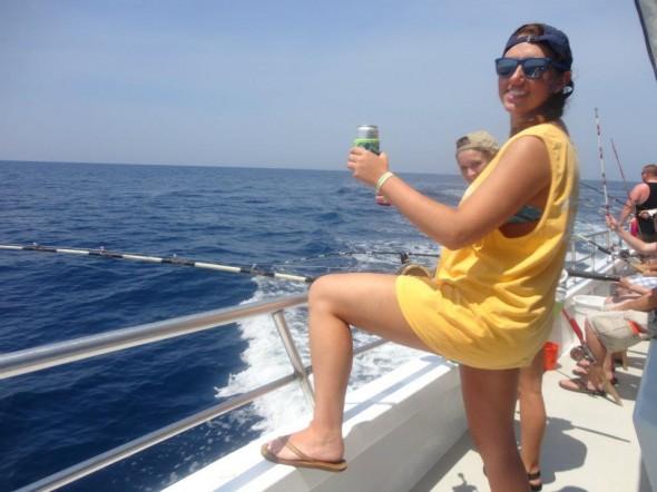 Deep sea fishing in the Gulf. TSM.