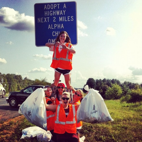 Participating in monthly highway clean up and still looking cuter than you. TSM.