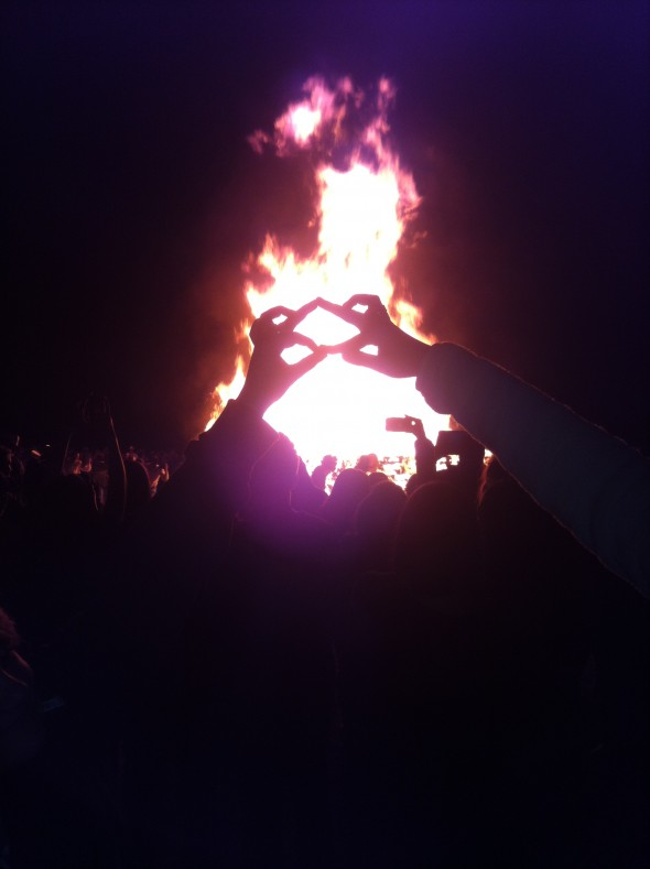 Throwing what we know at our school bonfire! TSM.