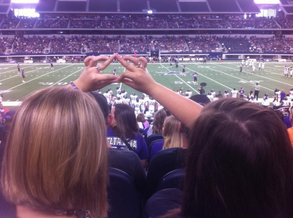 Throwing what we know while watching our school play in Jerry's World! TSM.