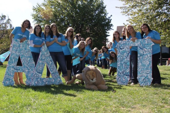 Having your letters match your bid day shirts. TSM.