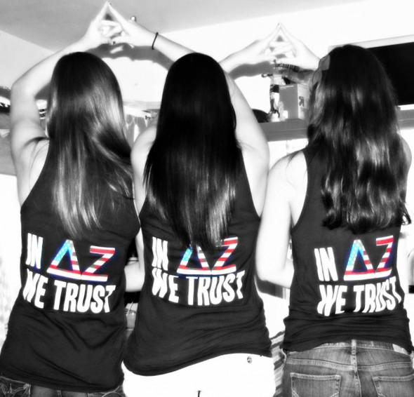 Delta Zeta and the red, white and blue! TSM.