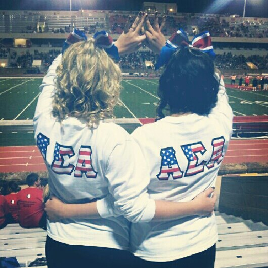 My three favorite things: my litte, my sorority, and America. TSM.