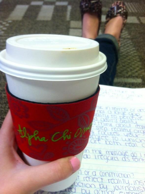 Even my coffee wears letters. TSM.