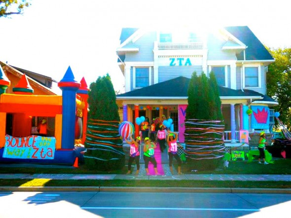 Having a bouncy castle bigger than your rival house. TSM.
