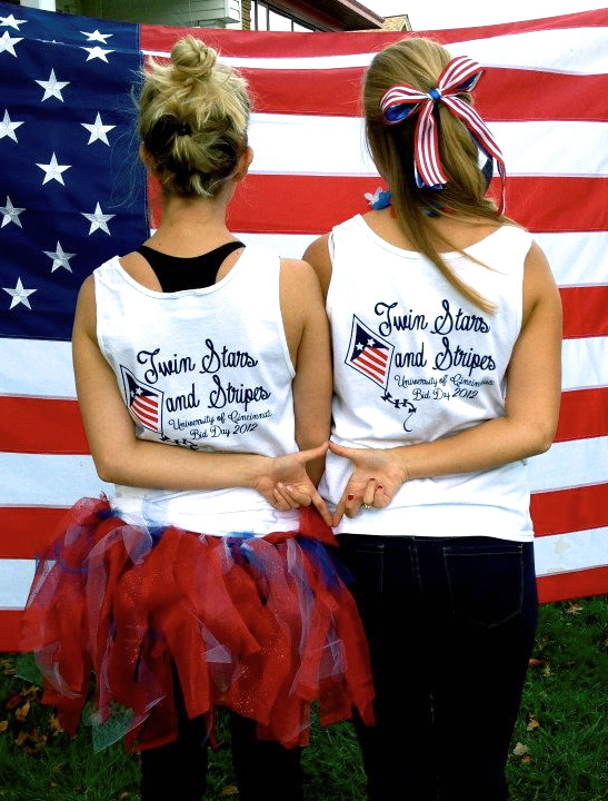 Three of my favorite things: my big, bid day, and the USA. TSM.