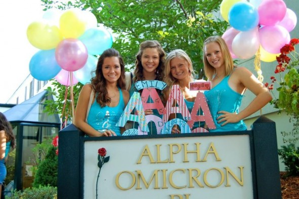 Welcoming the new AOII babies home <3 Alpha Love <3. TSM.