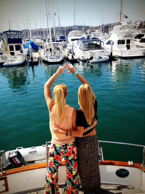 Blue water, boats, and my big sis. TSM.