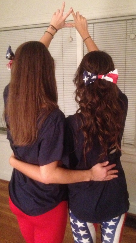 Bows, America and Kappa Delta. TSM.