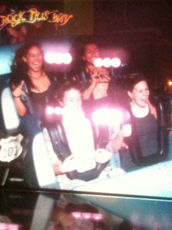 Throwin' up a little Greek unity on a rockin' rollercoaster in Disney. TSM.