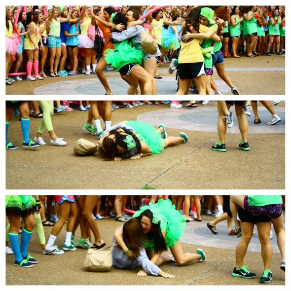 No one ever said bid day wasn't dangerous. TSM.
