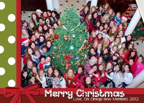 Your pledge class sending a Christmas card to the White House. TSM.