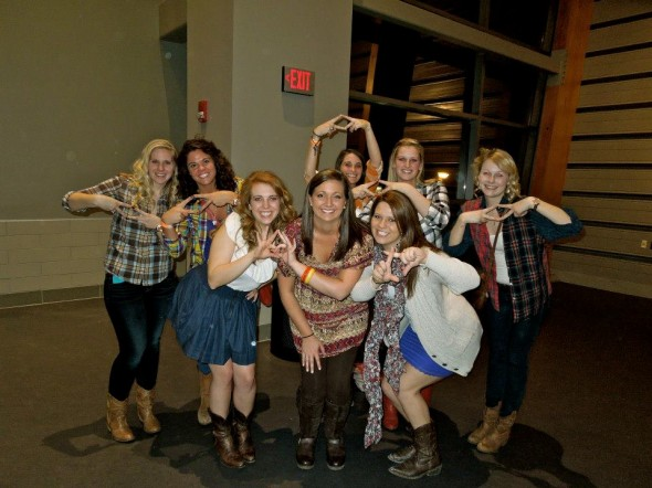 Luke Bryan's Sorority Girls at the opening show of the Dirt Road Diaries tour. TSM.