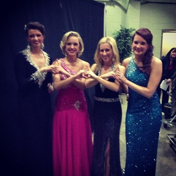 Throwing what we know at Miss Ball State University. TSM.