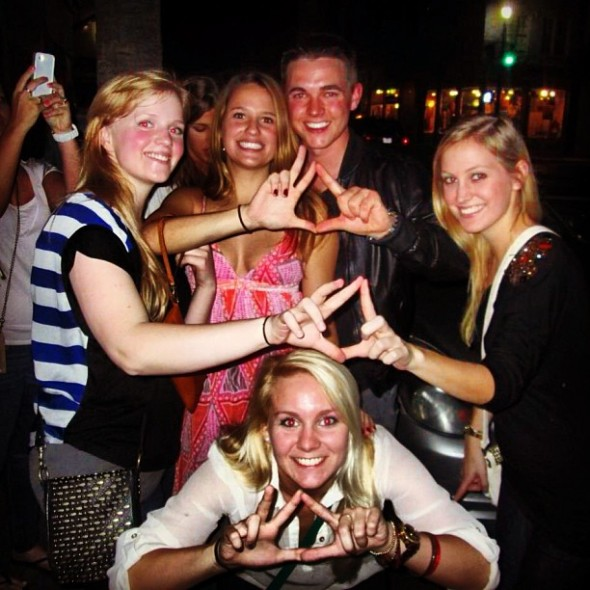 Getting Jesse McCartney to throw your letters. TSM.