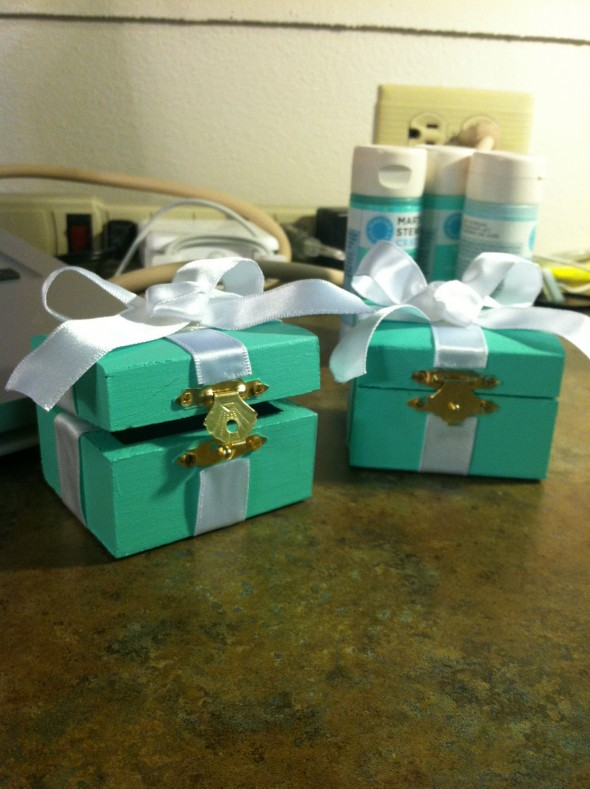 Crafting Tiffany pin boxes for my future little and I. TSM.