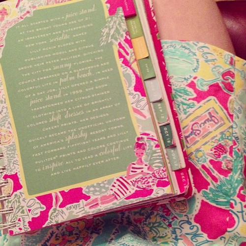 When your dress for chapter accidentally matches your planner. TSM.