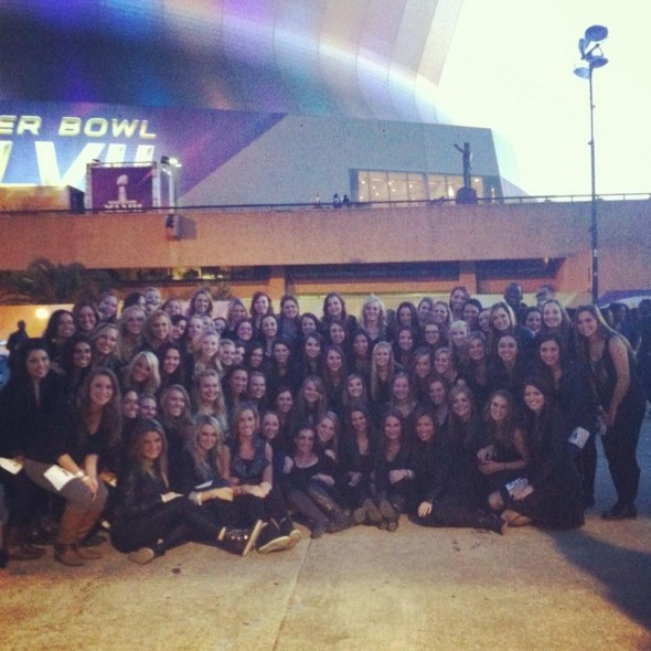 Being on the field for the Super Bowl Half Time show with 80 of your sisters and the Queen B. TSM.
