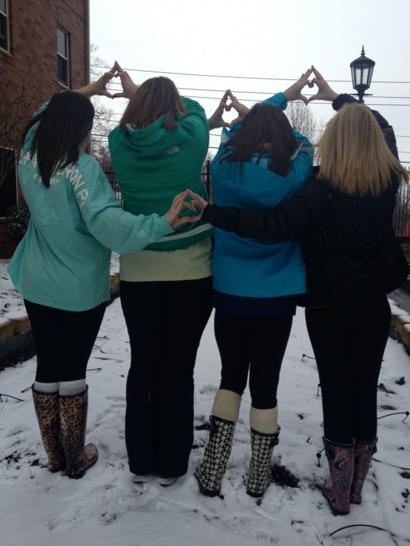 Snow day with my sisters! TSM.