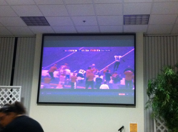 Watching the Super Bowl during chapter. TSM.