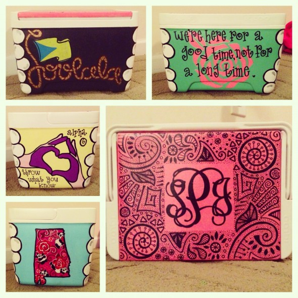 Painting the best cooler for my Twinny! TSM.
